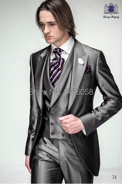 2016 grey tuxedos mens wedding suits for men morning suits 2016 grey tuxedos mens wedding suits for men morning suits groomsmen groom suits men wedding tuxedos junglespirit Images