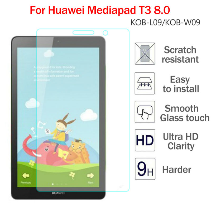 Top quality 9H Tempered Glass For Huawei Mediapad T3 8.0 8 inch Screen Protector Film Hard Cover For Huawei T3 8 KOB-L09 KOB-W09 for huawei mediapad t3 8 inch glass for huawei mediapad t3 9 6 inch m3 8 8 4 10inch m5 8 4 10 8inch tablet screen protector
