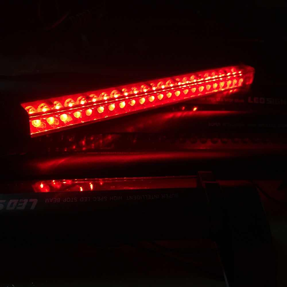Новичок 12V Универсальный красный светодиодный автомобильный Стайлинг стоп-сигнал бар противотуманный фонарь стоп-сигнала багажника высокое крепление на заднюю часть крыши, Предупреждение свет