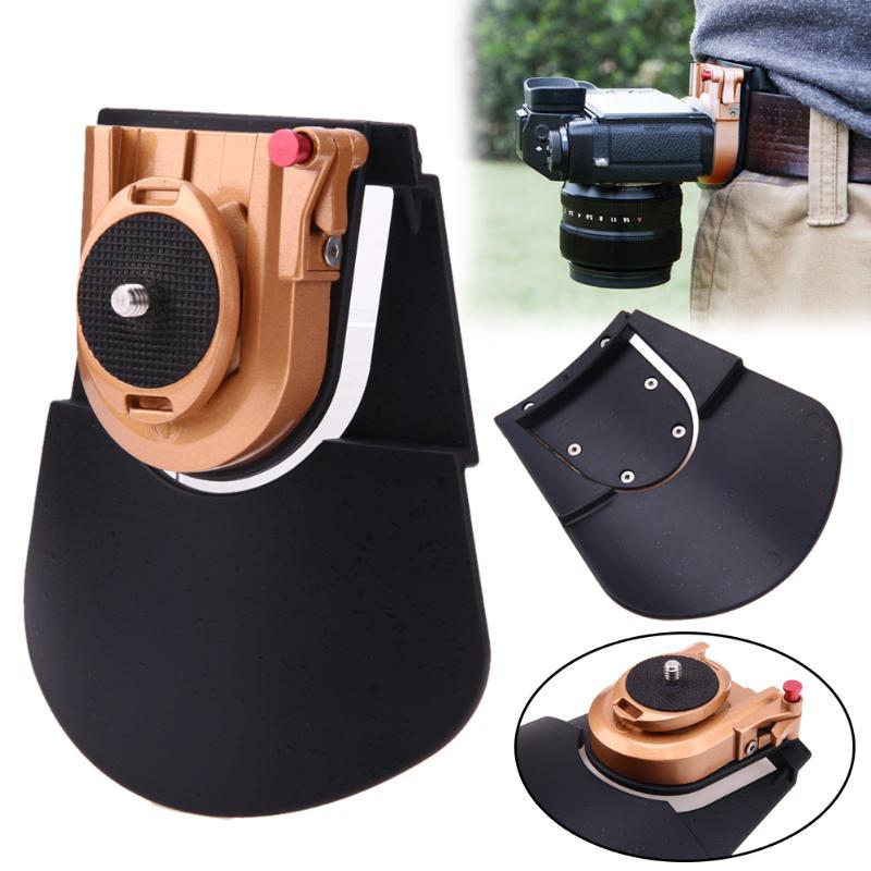Vanpower caméra ceinture étui Clip taille titulaire ceinture métal Clip de fixation rapide plaque pour 1/4