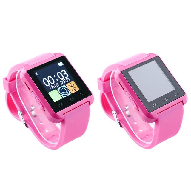 0ef292943 U8 Bluetooth 4.0 Smart Wrist Watch Phone Mate Sport Pedometer For  Android&IOS iPhone Samsung HTC LG Pink Smartwatch