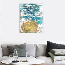 Laeacco Canvas Calligraphy Painting Abstract Watercolor Wall Artworkwork Pictures For Home Decoration Living Room Bedroom Decor