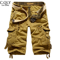 Top Quality Mens Cargo Shorts Loose Multi Pockets Army Military Shorts Tactical Sportwear Outwear Shorts Bermuda Masculina Red