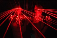 12 pcs laser glasses hot sell led red laser glasses party glasses for Christmas glasses party decoration Event & Party Supplies