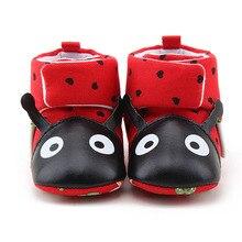 Милые ботинки для новорожденных с рисунком лисы; теплые зимние ботинки; детская обувь; нескользящая обувь для маленьких мальчиков и девочек;