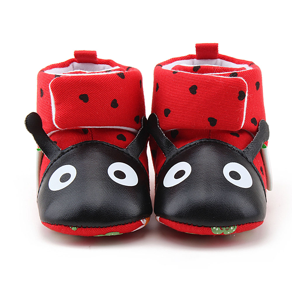 Cute Cartoon Fox Newborn Baby Boots Winter Warm Snow Boots Baby Shoes Hook & Look Anti-slip Baby Boy Girl Shoes Wholesale