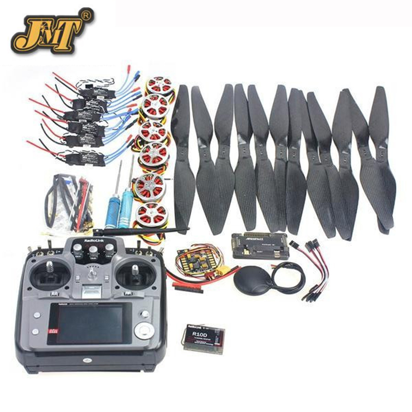 JMT 6 Axis Foldable Rack RC Quadcopter Kit APM2.8 Flight Control Board+GPS+750KV Motor+14x5.5 Propeller+30A ESC+AT10 TX