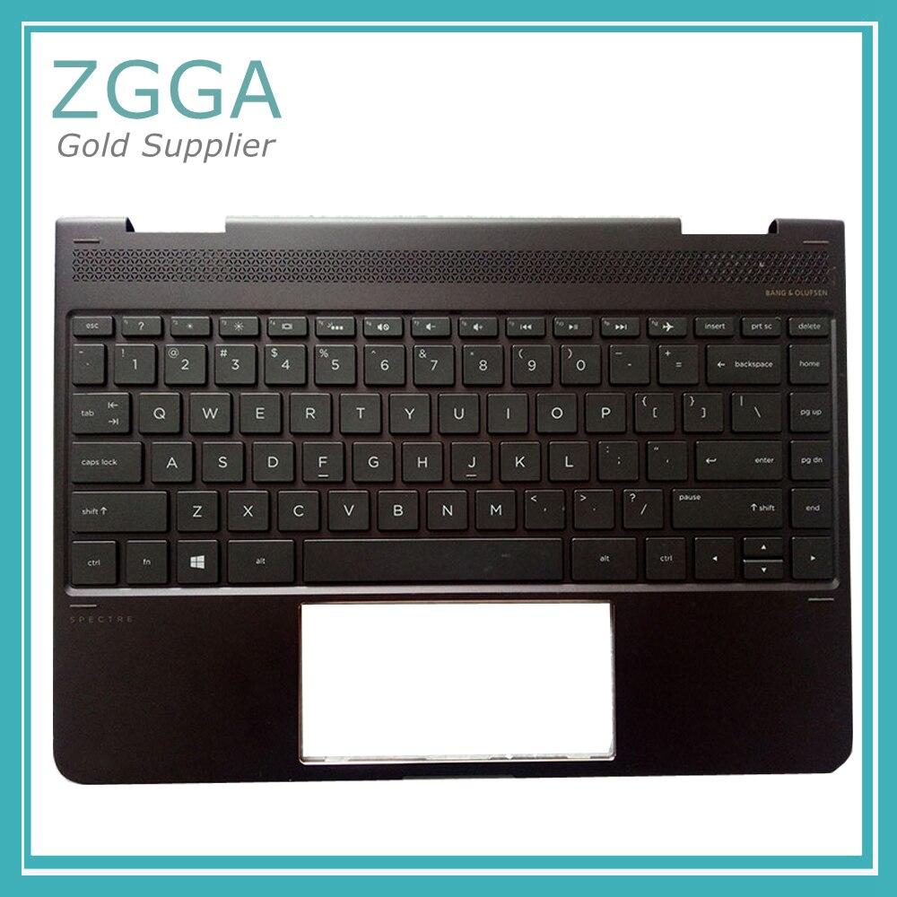 Подлинная Ноутбук США крышка клавиатуры для hp Spectre x360 13-w021TU Palmrest верхний регистр серебро 1A32ESP00600 коричневый с подсветкой ...