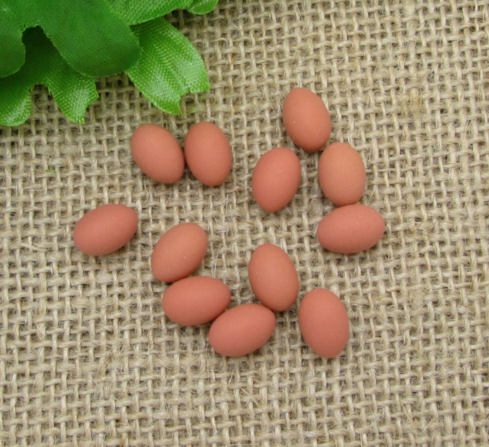 20Pcs Resin Eggs Decoration Crafts Flatback Cabochon Scrapbooking Fit Hair Clips Embellishments Beads Diy