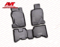 Floor mats for Great Wall Hover H3 2010 4 pcs rubber rugs non slip rubber interior car styling accessories