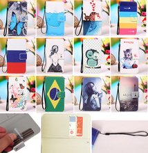 Красочные PU Leather Case для Explay Golf 4.5 «эйфелева Башня Бабочка Kitty Девушки Русский Флаг Шаблон Телефон Обложка Сумка + Отслеживая