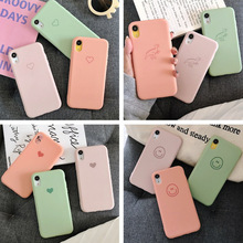 Simple liquid silicone color mobile phone case for iPhone X XS XR XSMax 8 7 6 6S PluSTPU soft drop protection cover