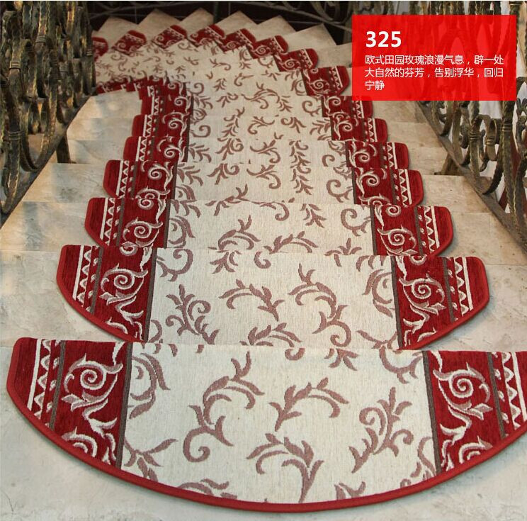 13pcs/lot Red Nylon Carpet Stair Carpet Sets Slip Resistance Stair Tread Mats Step Rug For Stair 24X80 Fit For 25cm Width Stair