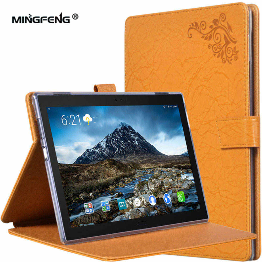 promo code b03b0 e2e94 For Lenovo TAB4 10 Plus Case PU Leather TPU Silicone Cover Case for Lenovo  TAB 4 10 Plus TB-X704N TB-X704F Tablet Case+Gifts