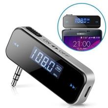 3,5 мм Автомобильный музыкальный аудио fm-передатчик ЖК-дисплей Автомобильный комплект мини беспроводной передатчик для Android/iPhone