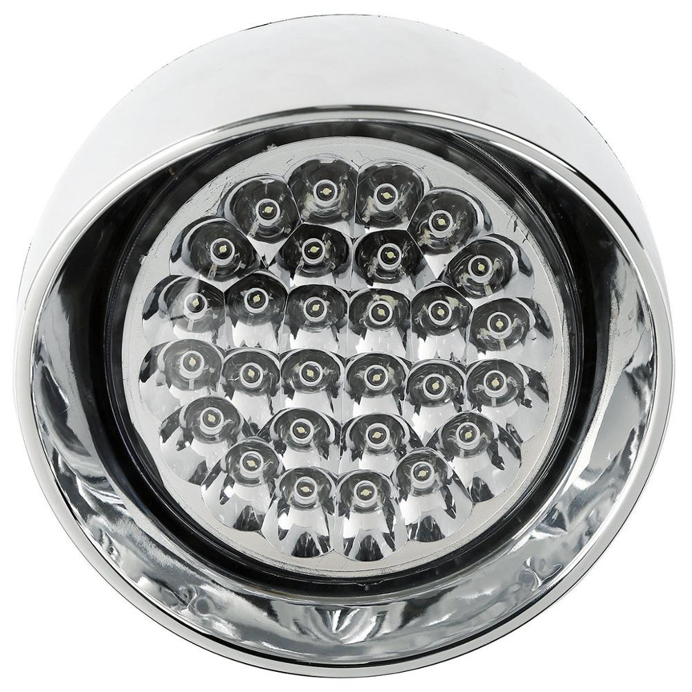 7 quot LED Motorcycle Bullet Chrome Headlight Light fit For Harley Choppers NEW