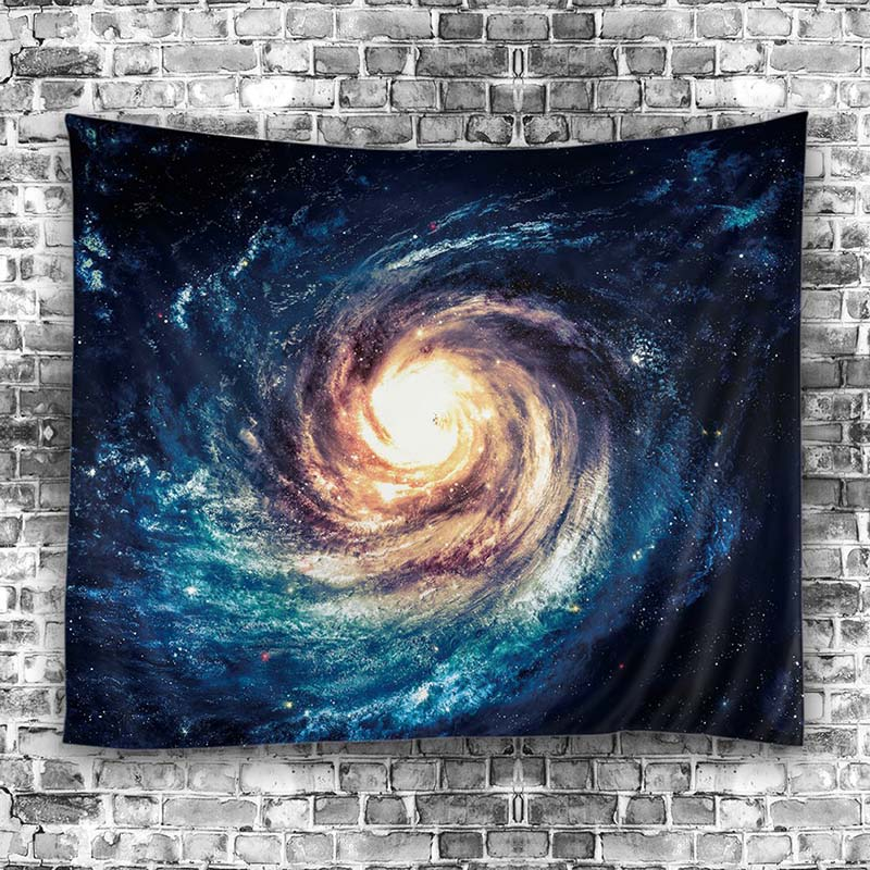 Starry Sky Stars Mandala Tapestry Beach Mat Hippie Blanket Scenery Decoration Hanging Wall Decoretion ...