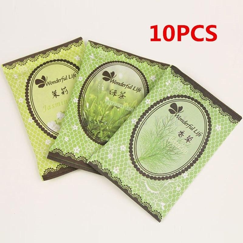 10PCS 6X9cm Home Fragrance Sachet Bag Natural Grain Scented Wardrobe Deodorant Air Freshener Colorful Printed Package 12 Flavors