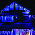 Blue LED Christmas Lights Guirlande Lumineuse Exterieur Wedding Birthday Party New Year Dress Scene Decoration 3.5+0.5m 110/220V