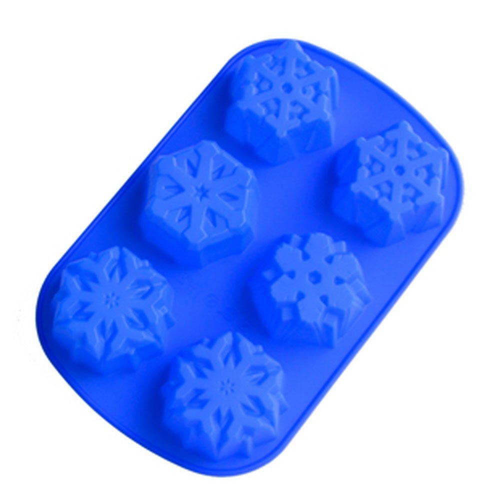 silicone cake mold handmade soap mold Four kinds of the snowflake in Soap Molds from Home Garden
