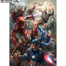 ZOOYA 5D Diamond Painting Hero Full Square / Round Mosaic Avengers Embroidery Sale Cross Stitch Decor Gift  K015