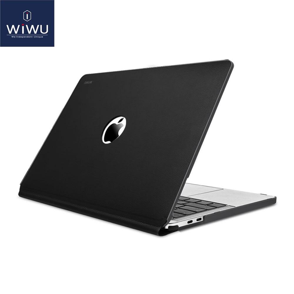 Luva Do Portátil para MacBook Pro 13 WIWU A2159 2019 Waterproof Couro PU Rígida Case para MacBook Pro 13 Polegada A1706 a1708