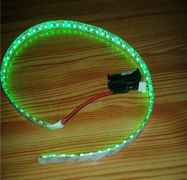 Online Shop Led battery light for clothes show DIY personality highlighted  0.5 meters LED Strip with 12V battery box