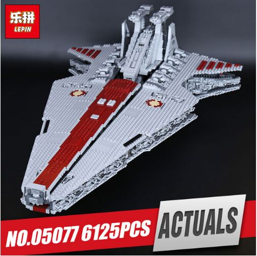 Lepin 05077 6125Pcs New Series The UCS Rupblic Set Star Destroyer model Cruiser ST04 Building Blocks Bricks Toy for kids gift lepin 05077 star series wars the ucs rupblic set destroyer model legoing cruiser st04 building blocks bricks toys for child gift