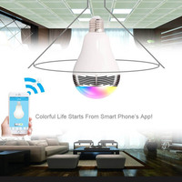 Bluetooth Speaker LED Light Bulb Colorful Changing Lights Works For IPhone Android Smartphone Controlled M25