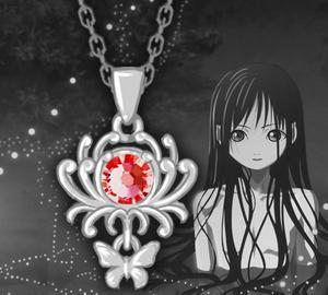 Hell Girl Jigoku Shoujo Ai Enma Pendant Necklace 925 Silver