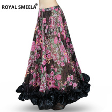 New Bellydancing Bohemia Chiffon Large Skirts Gypsy Tribal Belly Dance Skirt  Gypsie  Costume Dress Clothing 6041
