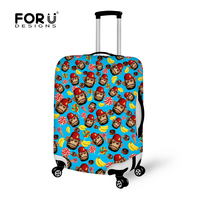 2016 New 20 24 28 30 Inch Cute Monkey Design Soft Luggage Cover For School Teens