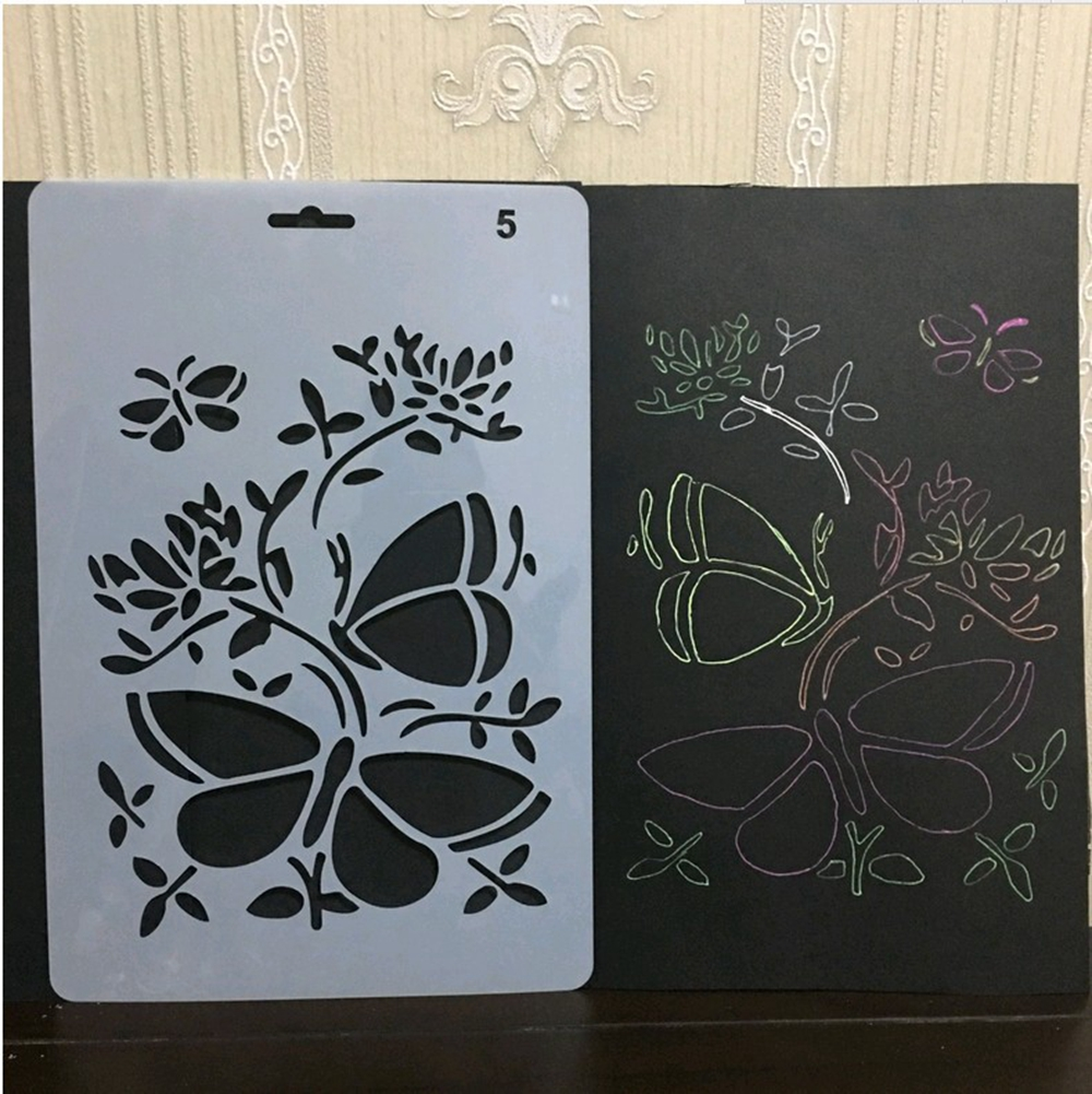 Eno Greeting Butterfly Stencil Plastic Embossing