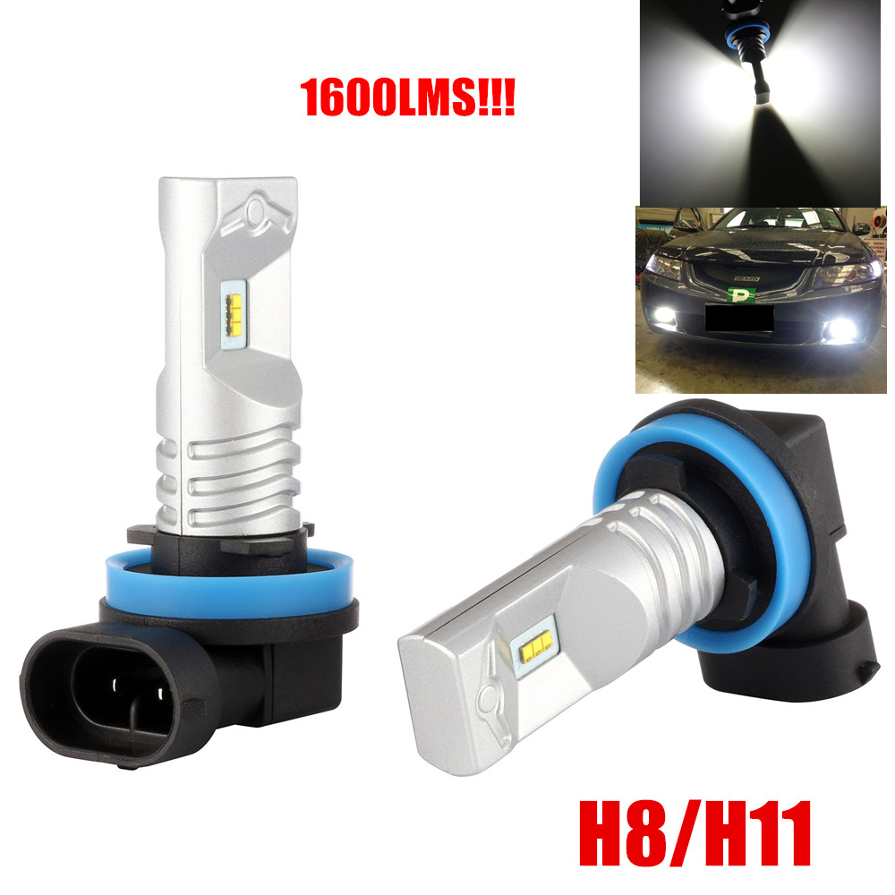 2Pcs 80W 1600 Lumens H11 H8 LED Bulbs With Powerful PhilipsLumileds For DRL or Fog Lights,Xenon White(Brightest LED in market) 80 1600