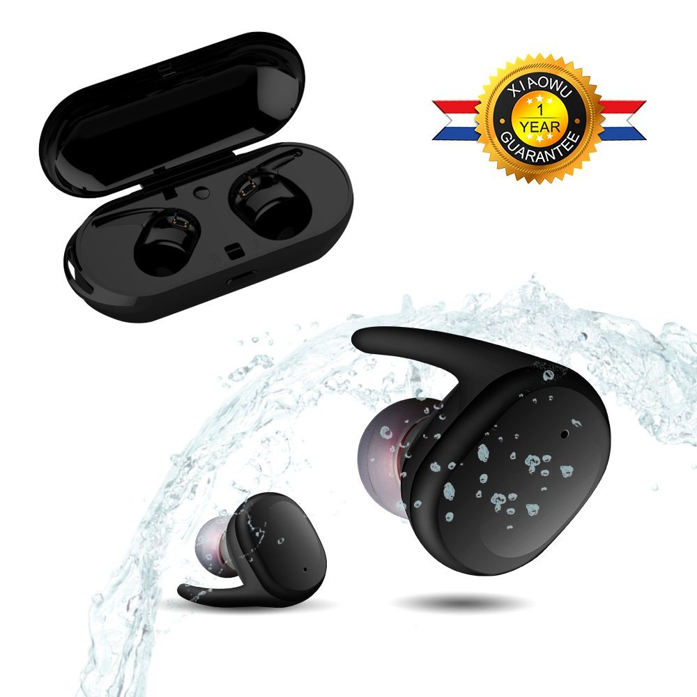 Sago S9100 In-Ear Earphones Wireless Bluetooth earbuds  IPX5 Waterproof with Mic and Touch control for XiaoMi iphone HTC  phones original xiaomi mi hybrid earphone in ear 3 5mm earbuds piston pro with microphone wired control for samsung huawei p10 s8
