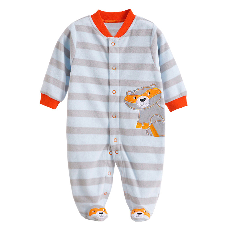 Newborn Baby Rompers Autumn Winter Package Feet Baby Clothes Polar Fleece Infant Overalls Baby Boy Girl Jumpsuits Clothing Set newborn baby boy rompers autumn winter rabbit long sleeve boy clothes jumpsuits baby girl romper toddler overalls clothing