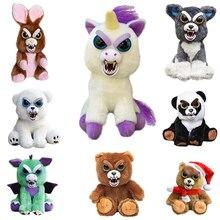 Original Feisty Pets Change Face Stuffed Plush Toys Animal Unicorn Bear Panda Dog Interactive Doll New Year Gift Toys For Kids