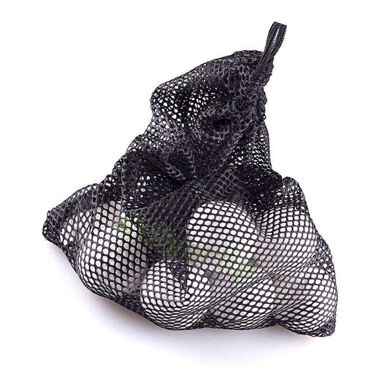 Golf Tennis Nets Bag Outdoor Sports Nylon Mesh Pouch Golf Hold Up To 45 Balls Holder Golf Balls Storage Closure Training Aid ST
