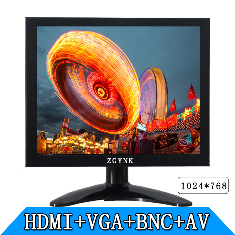 8 inch industrial safety HDMI BNC AV VGA LCD monitor computer monitors hd 1024 x768 10inch metal shell bnc hdmi vga av interface hd monitor display lcd computer monitors