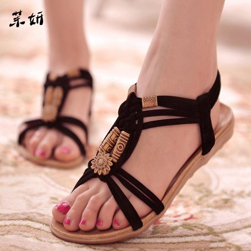 Women Sandals Fashion Summer Shoes Women Gladiator Sandals Summer Beach Shoes Female Ladies Sandals Zapatos Mujer Black