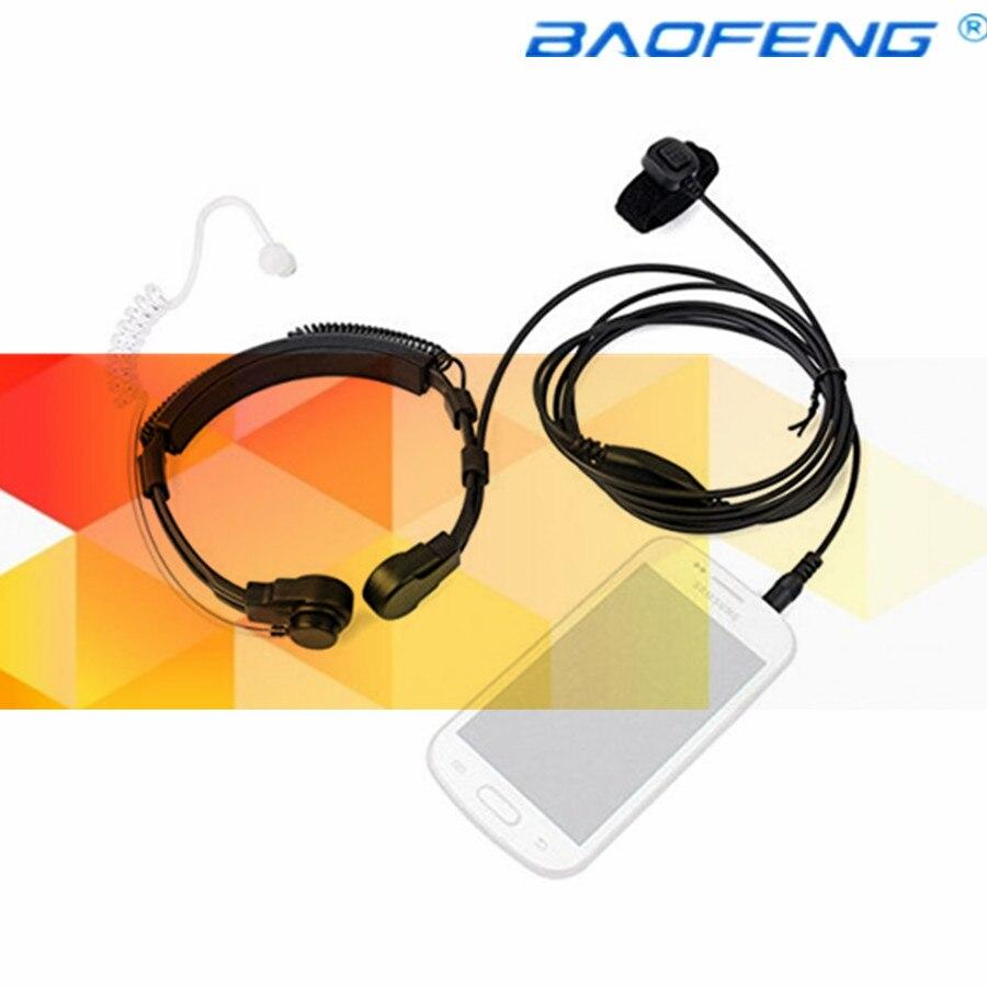 imágenes para Flexible Throat Mic jack 3.5mm Micrófono Auricular Acústico Secreto Del Tubo Del Auricular para El Iphone android moblie teléfono