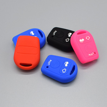 Car key Silicone Rubber fob cover case set for BMW E31 E32 E34 E36 E38 E39 E46 Z3 OLD Remote 3 buttons key protect shell image
