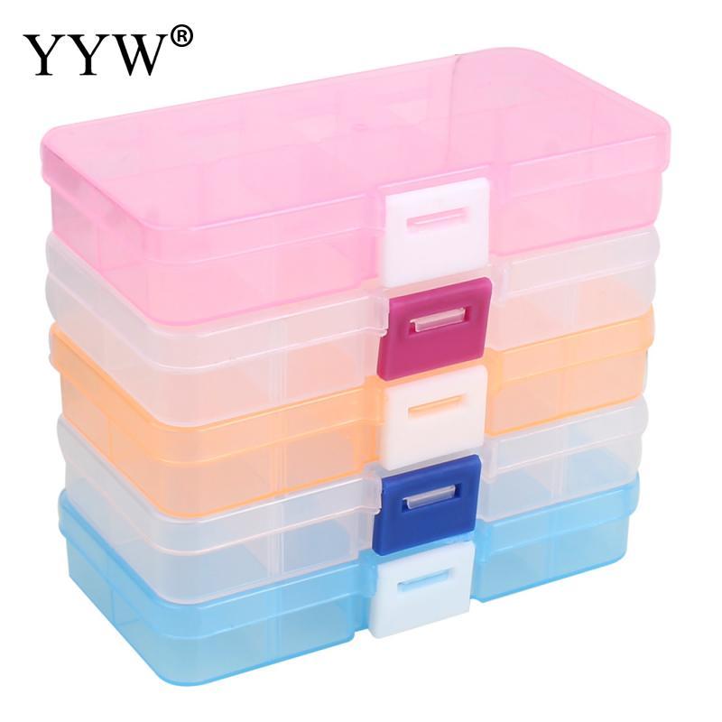 10 Slots ajustável transparente caixa de armazenamento de drogas Pill caixas de plástico organizador de viagem portátil