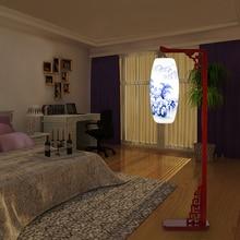 LED  Simple modern living room, bedroom, bedside lamp, floor lamp, creative solid wood floor lamp