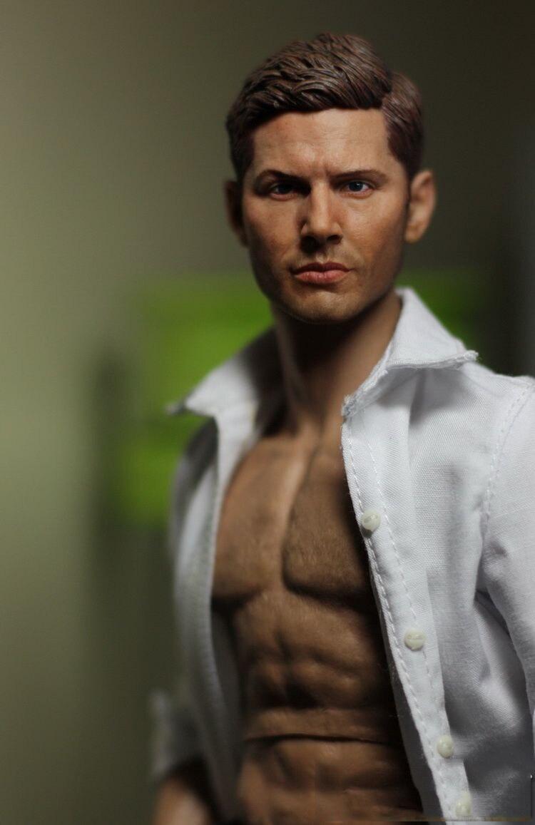 1//6 Jensen Ackles Dean Winchester Head Sculpt pour Supernatural Hot Toys PHICEN