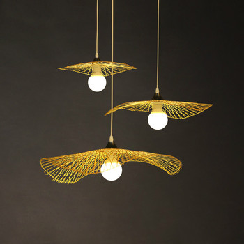 Individual bamboo chandelier new Chinese hotel clubhouse restaurant tea room hall art modeling lamp ZP4201509