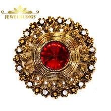 Эдвардианский ювелирные изделия Куполом Красный Кристалл Камень