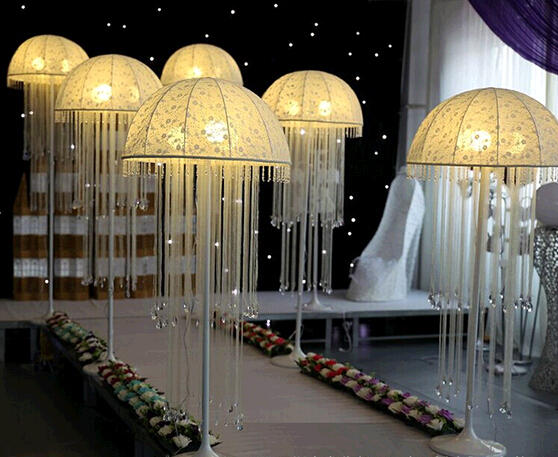 Drop of jellyfish lanterns wedding centerpieceroad leadwedding drop of jellyfish lanterns wedding centerpieceroad leadwedding pillars wedding decoration furnishing articles in party diy decorations from home garden junglespirit Gallery