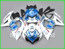Fairing kit for SUZUKI GSXR600 750 08 09 GSXR600 GSXR750 GSX-R600 750 K8 2008 2009 LUCKY-STRIKE white blue Fairings YZ27