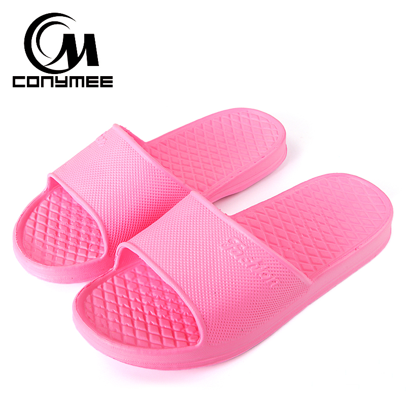 CONYMEE Shoes Woman 2018 Summer Sandals Flip Flops Men Women Indoor Home Slippers Bath Sandalias Zapatos Mujer Slipper Big Size women slippers flower shoes woman flats sandals beach flat flip flops ladies sandalias zapatos mujer footwear size 35 39 pa00194